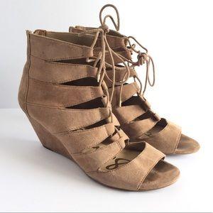 "Sam Edelman ""Santina"" Lace Wedge Sandal Size 8.5"